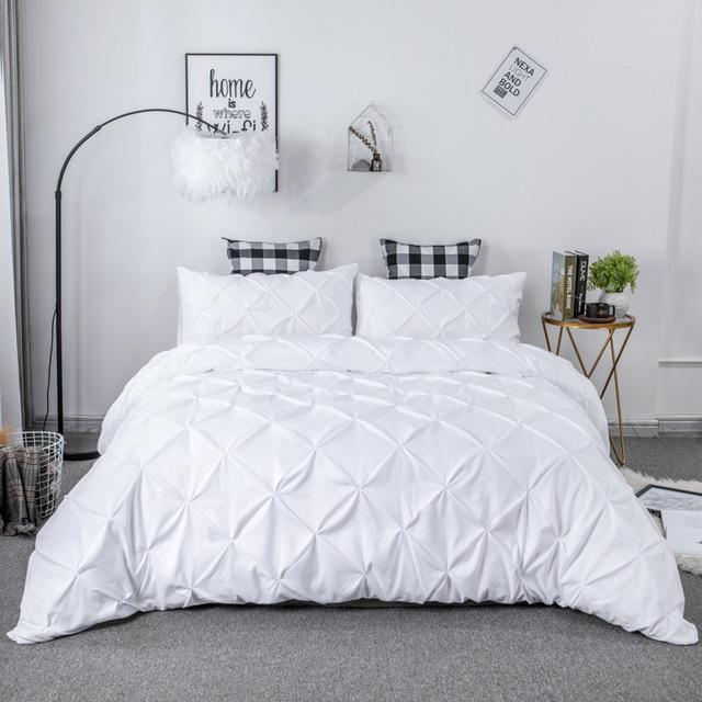 Pamella Pinch Pleated Bedding Set