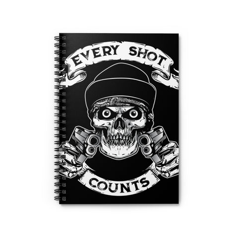 Every Shot Counts Ruled Notebook