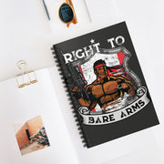 Right to Bare Arms Canada Ruled Notebook