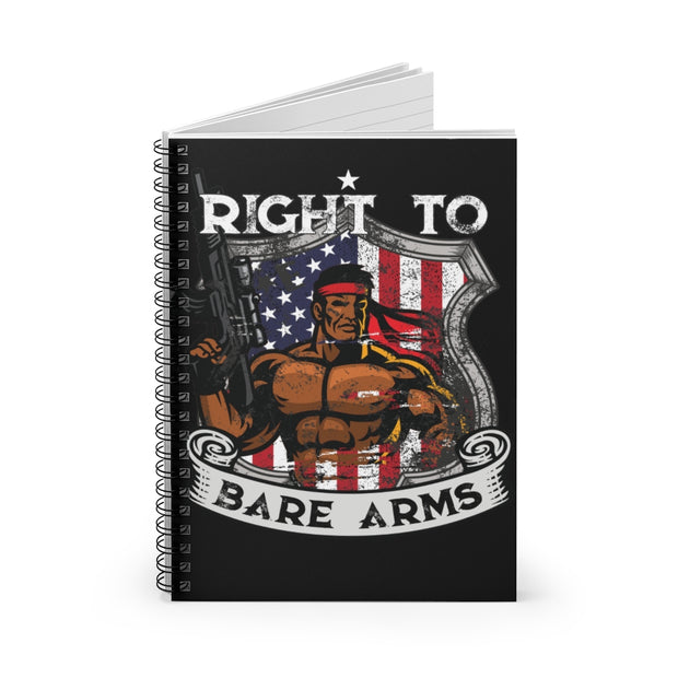 Right to Bare Arms Ruled Notebook