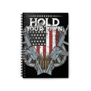 Hold Your Own America Ruled Notebook