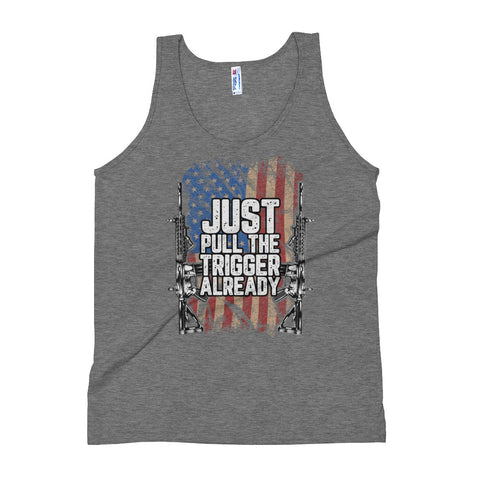 Just Pull The Trigger Already Men's Tank Top