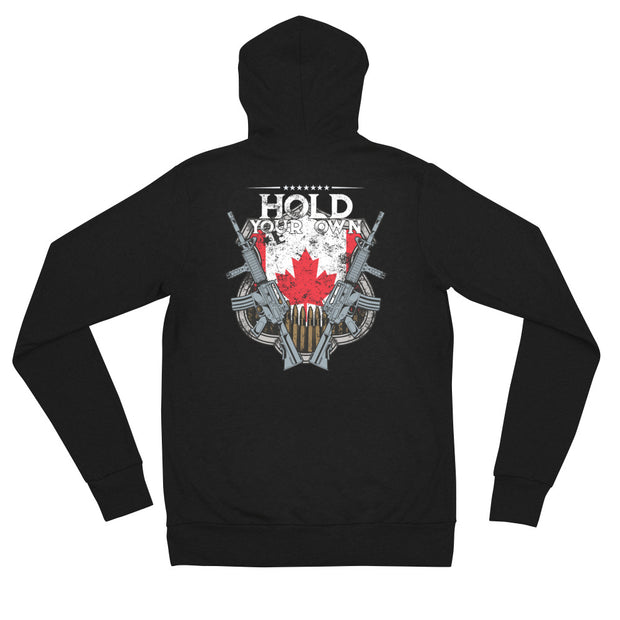 Hold Your Own Canada Ladies Zip Hoodie