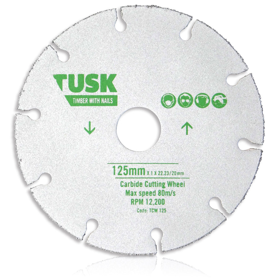 Image result for TCW 125 Carbide Cutting Wheel - 125 x 1 x 22.23 tusk