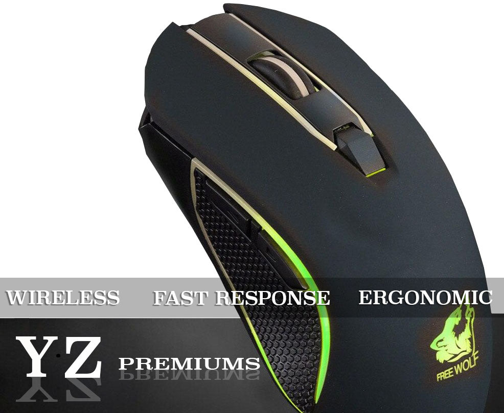 YZ Premiums wireless gaming mouse ergonomic fast respons fast shipping free shipping 4-13 business days in US borders!