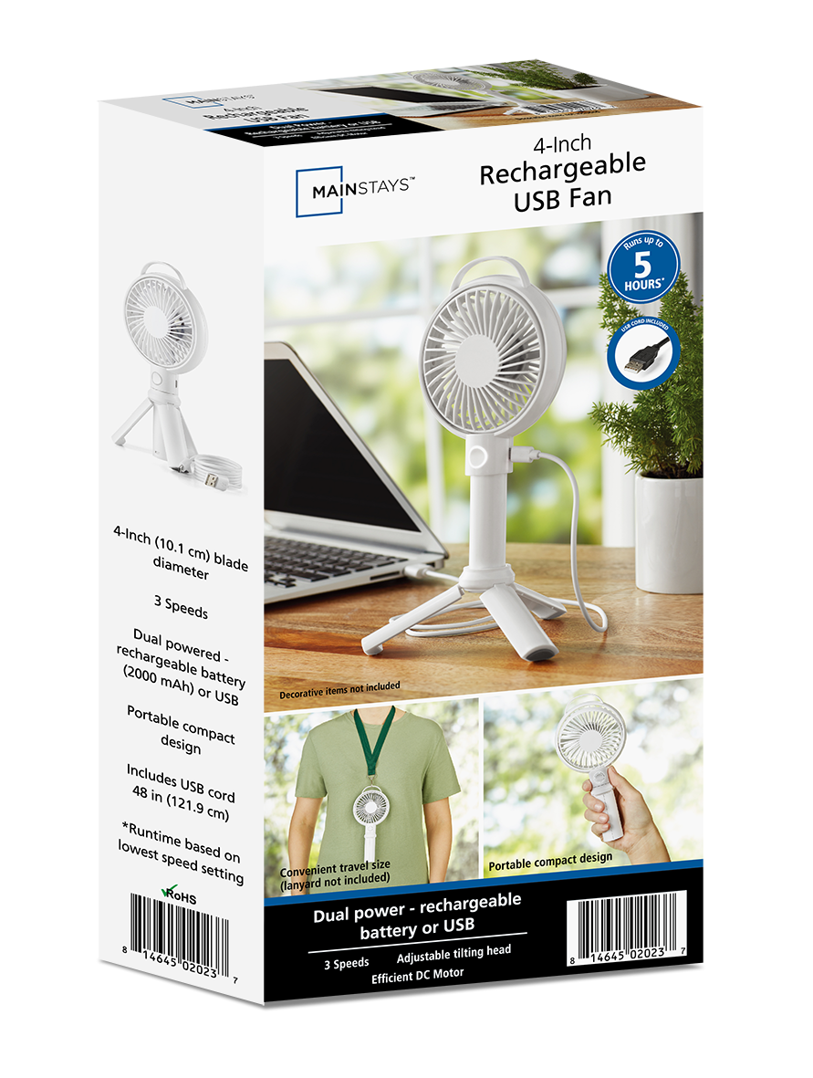 Mini portable fan rechargeable packed secure shipping from YZ Premiums