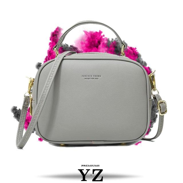 Signature Handbag - Soft Gray