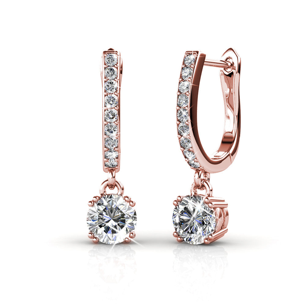 18k White Gold | Dangling Earrings w/ Swarovski Crystals