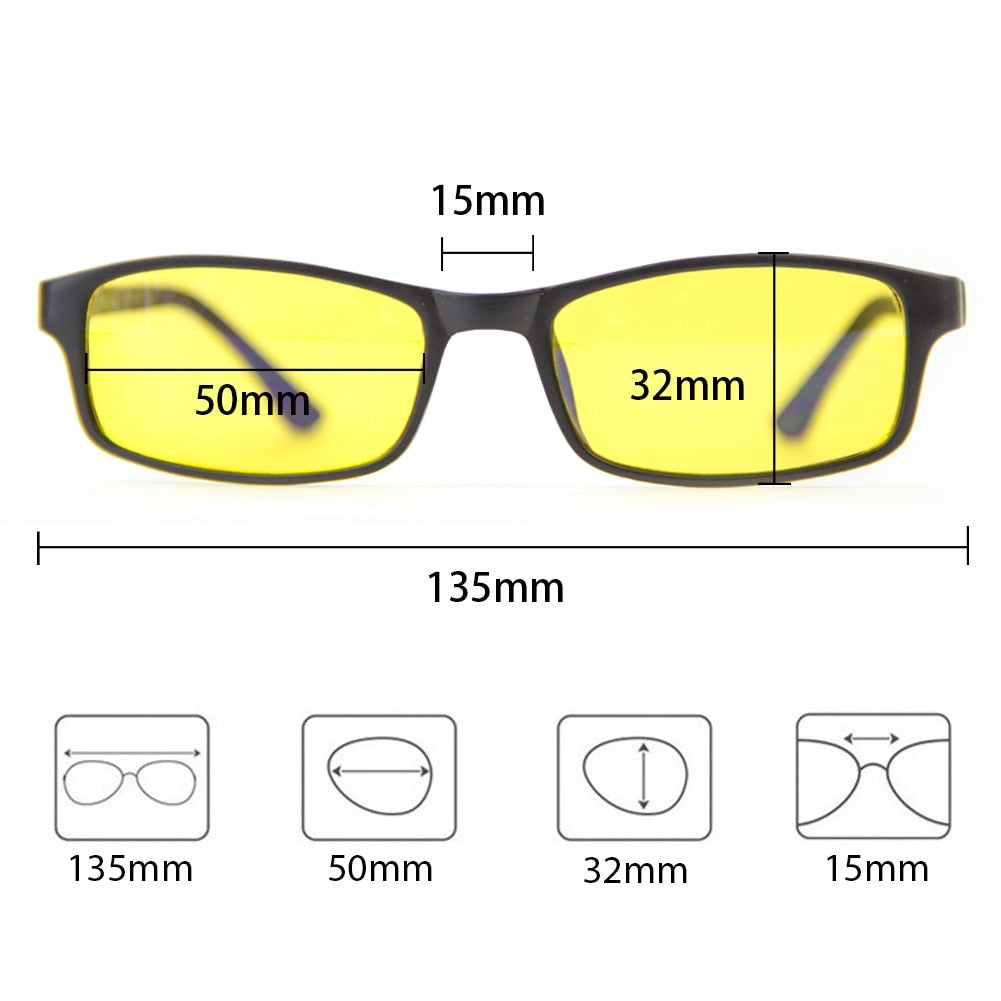 YZ Premiums computer anti UV blue light glasses eye protector free shipping 1-5 business days in US Borders!