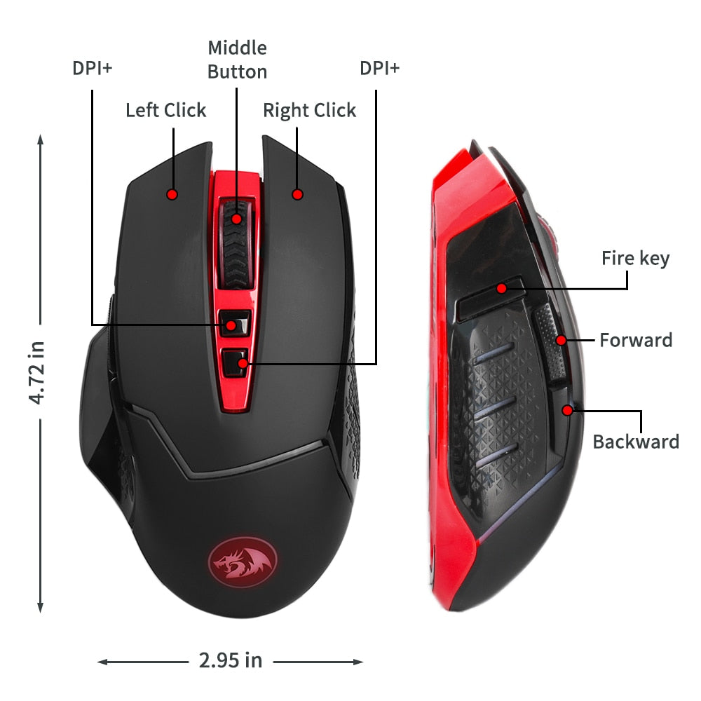 pro gaming mouse wireless with bluetooth free shipping!