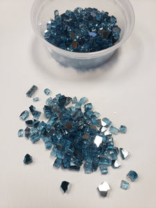 Blue fine crushed glass 4oz