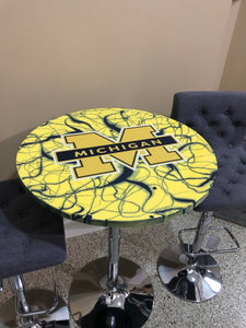 Michigan Wolverines - Custom Epoxy Pub Table - Nulook Epoxy