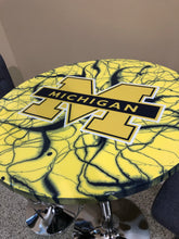 Load image into Gallery viewer, Michigan Wolverines - Custom Epoxy Pub Table - Nulook Epoxy