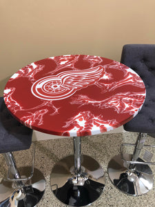 Detroit Red Wings - Custom Epoxy Pub Table - Nulook Epoxy