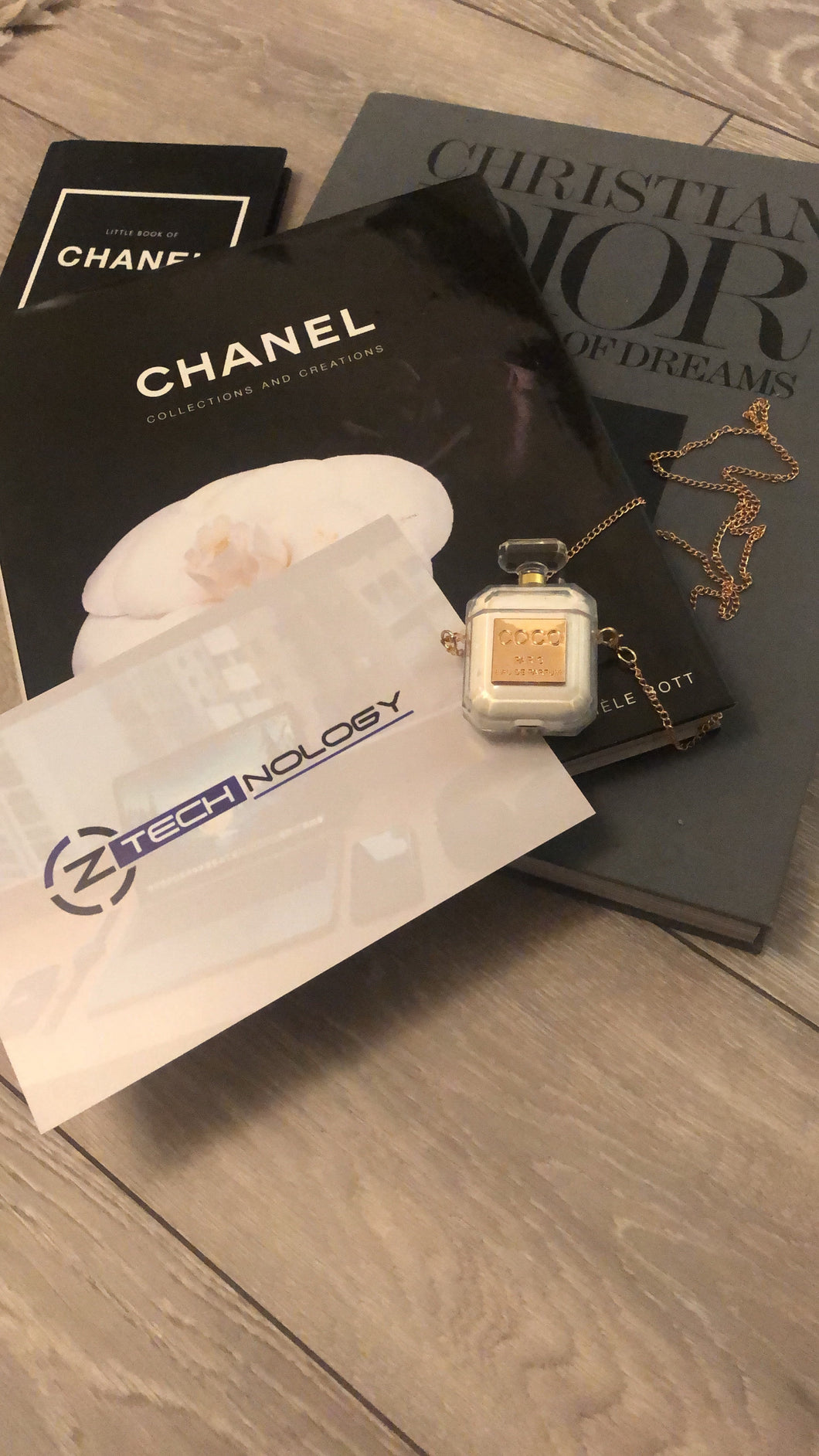 Coco AirPod case with necklace