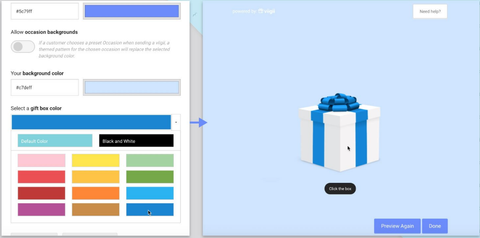 Designing Gift Page for Email