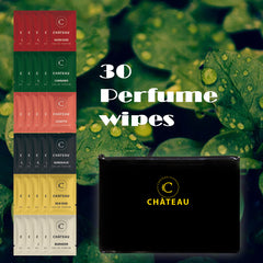 CHÀTEAU On-The-Go Fragrance Wipes - 30 Packs