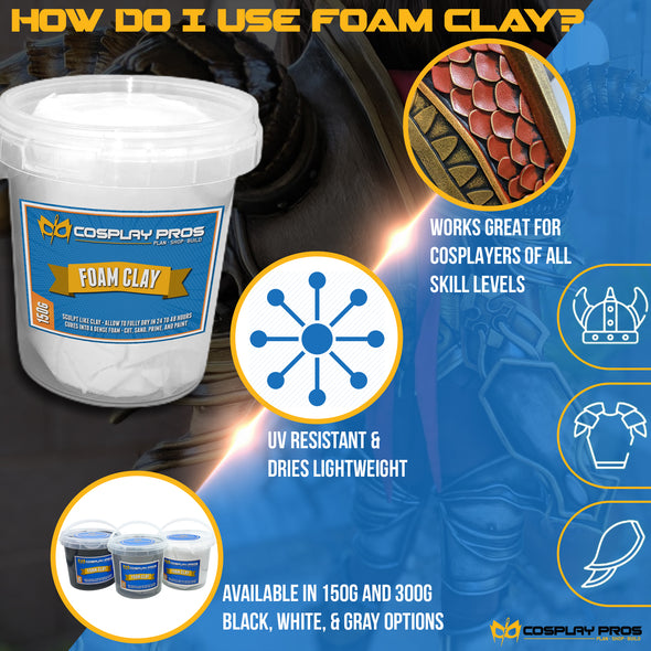 How Do I Use Cosplay Pros Foam Clay