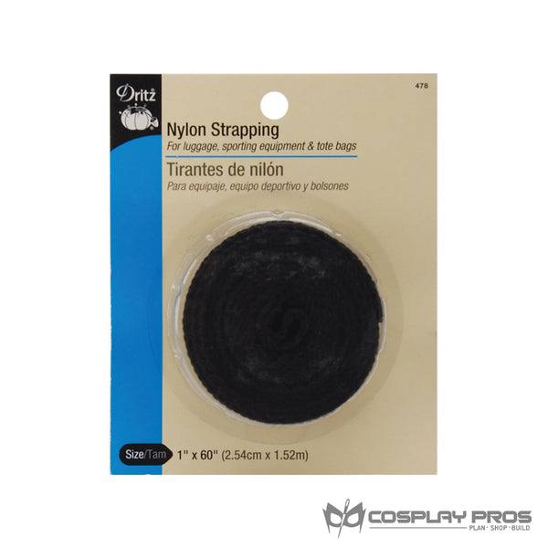 Cosplay Pros Dritz Nylon Strapping Black