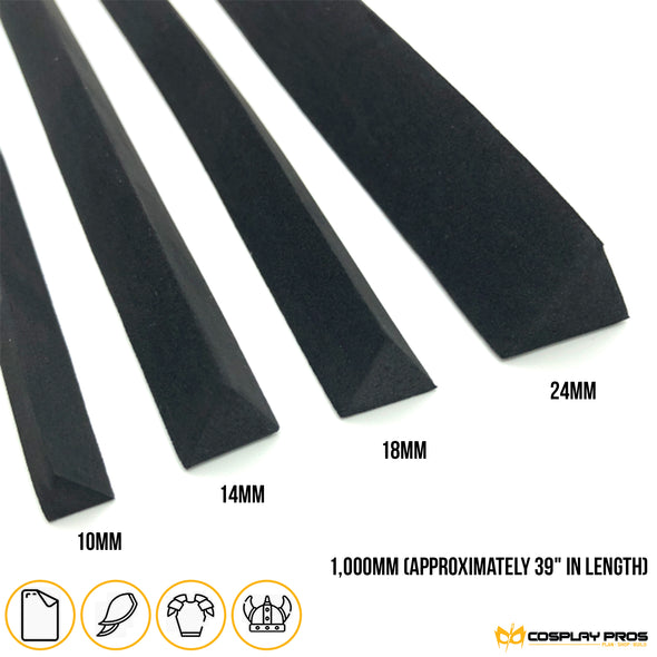 Cosplay Pros bevel cut foam triangle dowel