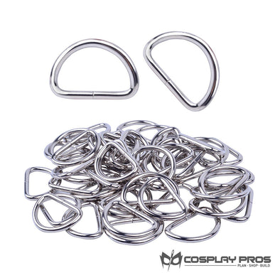 "Cosplay Pros Dritz Metal adjustable ""D"" Rings"