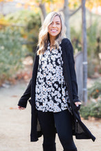 Load image into Gallery viewer, Black Waffle Knit Cardigan
