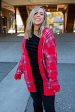 Load image into Gallery viewer, Mad About Plaid Sweater Cardigan