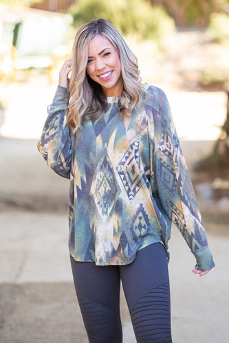 Savannah Charm Long Sleeve Top