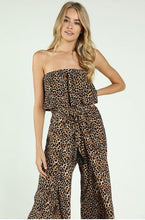 Load image into Gallery viewer, leopard jumpsuit front close up.JPG