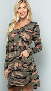 Camilla camo tunic dress