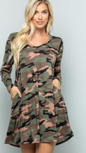 Load image into Gallery viewer, Camilla camo tunic dress