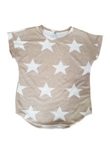 Catch a falling star top in taupe