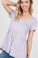 Load image into Gallery viewer, Blue Jean baby top in dusty purple