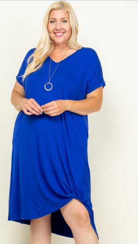 Skies are blue midi dress
