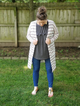 Load image into Gallery viewer, Your favorite striped cardi in mauve