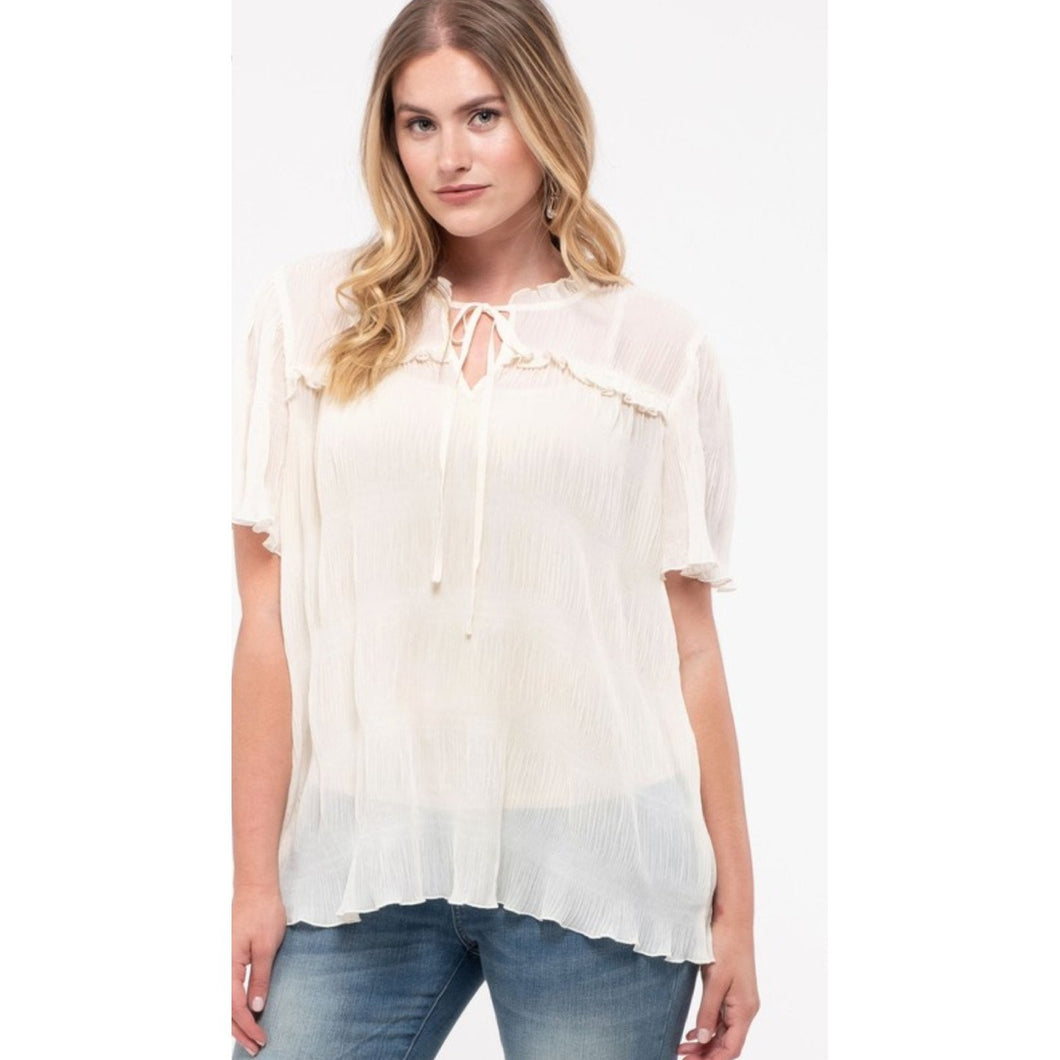 Boss babe blouse in ivory