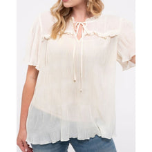 Load image into Gallery viewer, Boss babe blouse in ivory