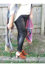 Load image into Gallery viewer, Black mamba faux leather leggings