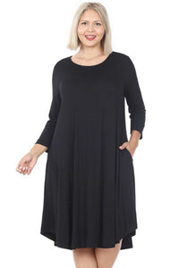 Into the night swing dress