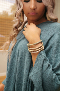 Simply chic bracelet set in light neutrals