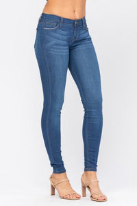 Judy Blue Distressed Rayon Skinny - Plus