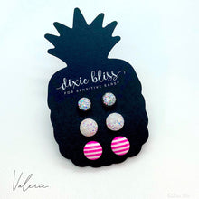 Load image into Gallery viewer, Dixie Bliss Valerie Pink Candy Stripe Druzy Trio