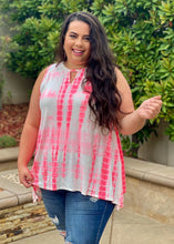 Load image into Gallery viewer, Cherish Forever Keyhole Tunic in Neon Pink