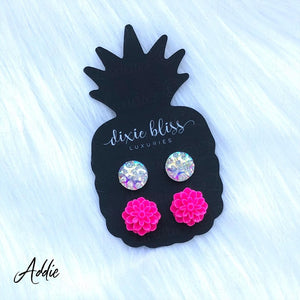 Dixie Bliss Luxuries Addie Mirror Ball-Hot Pink Floral Duo