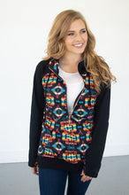 Load image into Gallery viewer, Aztec Half Zip Hoodie