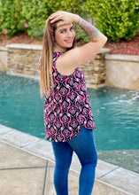Load image into Gallery viewer, Rising Sun Damask Sleeveless Top
