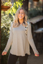 Load image into Gallery viewer, Harmoniously Striped Long Sleeve Top