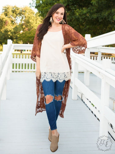 Love Your Lace Duster  - Rust