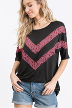 Load image into Gallery viewer, Easy Breezy Lace Chevron Top