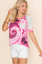 Load image into Gallery viewer, Psychedelic Raglan Tee